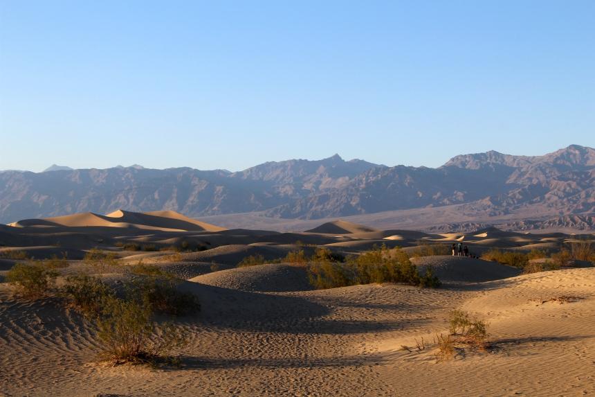 Mesquite Flat Sand Dunes: de zandduinen van Death Valley National Park