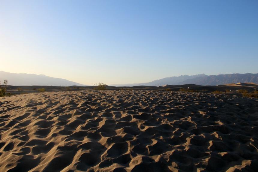 Zandduinen in Death Valley