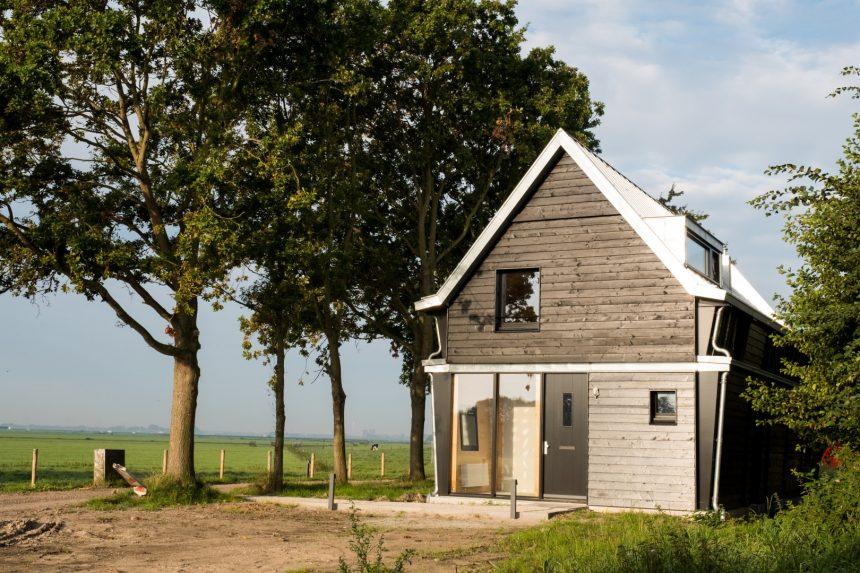 Nieuwe fortwachterswoning bij Fort K'ijk bij Krommeniedijk