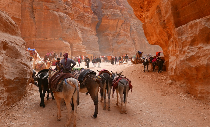 Oude tijden herleven in Jordanië.