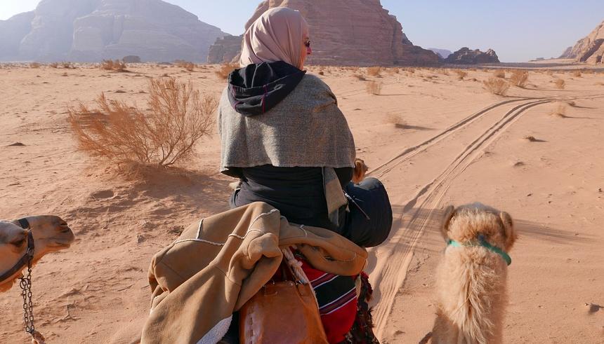 Jordanië per kameel