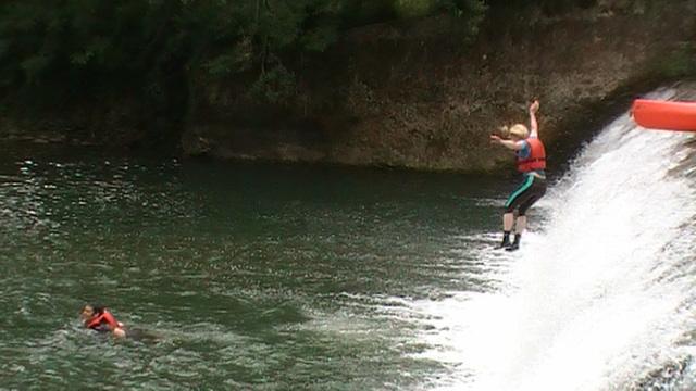Springen van een waterval