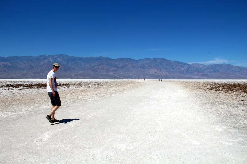 Badwater Basin zoutvlakte Death Valley Amerika