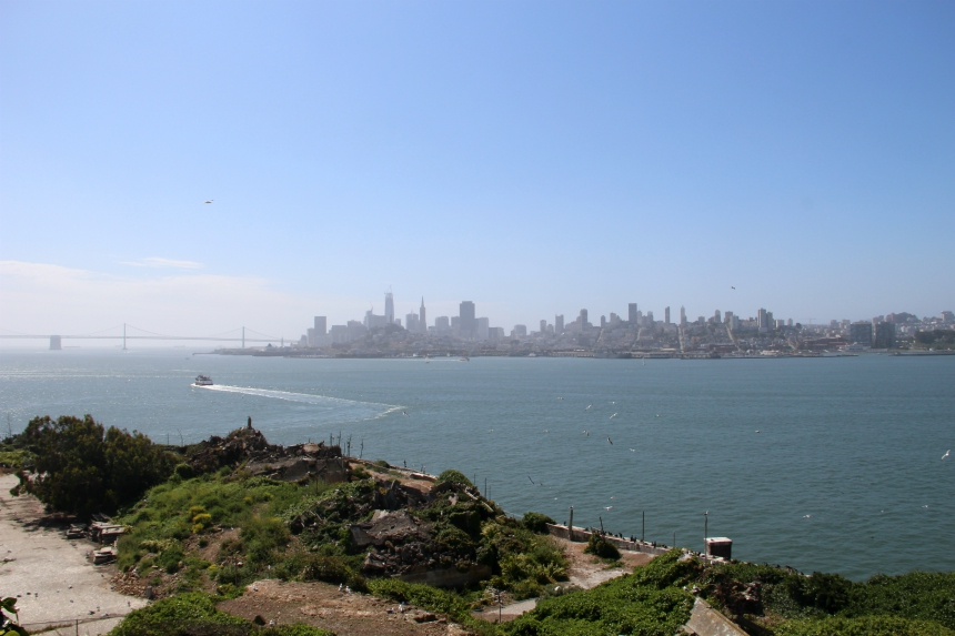 Met een beetje geluk heb je vanaf Alcatraz uitzicht op de skyline van San Francisco