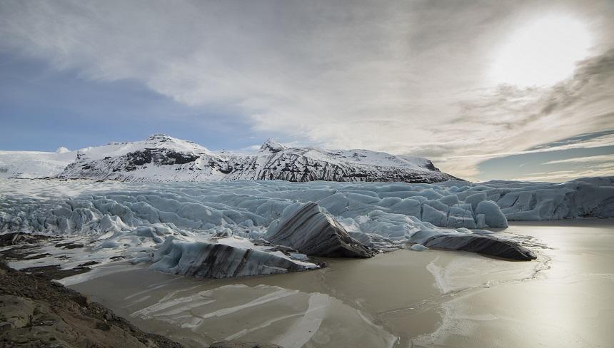 Een van de vele gletsjers