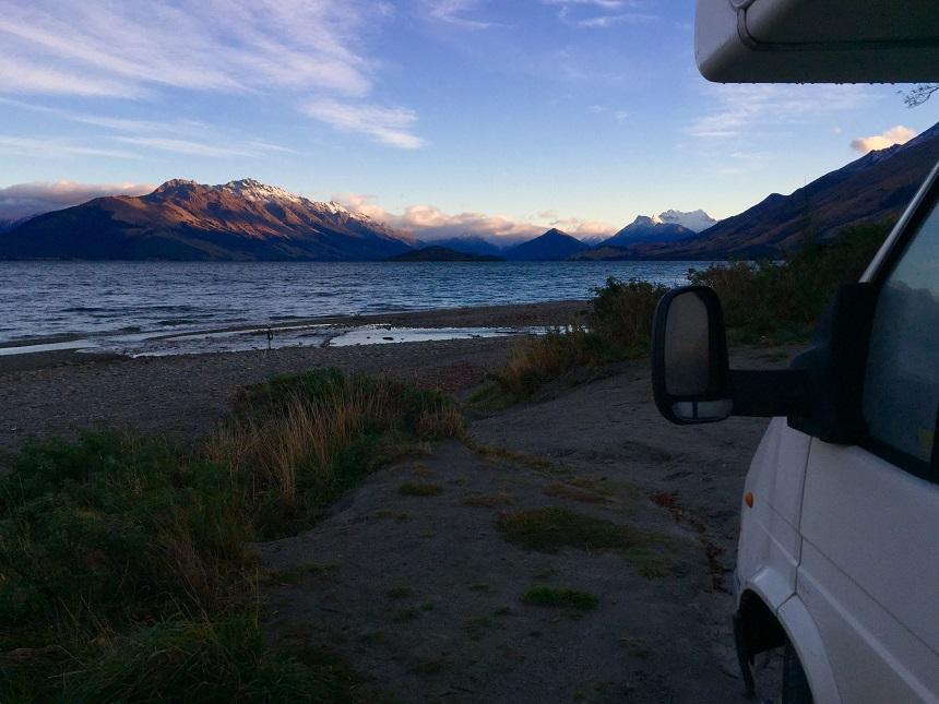 Waking up next to Lake Wakatipu