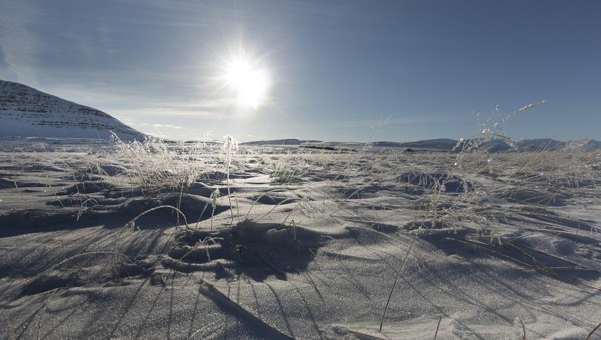 IJslands winter landschap