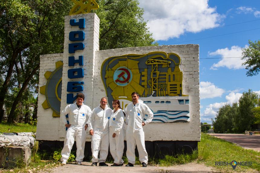 welkomstbord Chernobyl Town