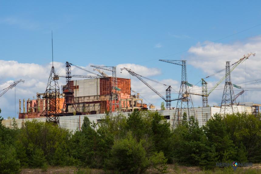 Reactor nummer vijf was ten tijde van de ramp nog in aanbouw en sindsdien onaangetast