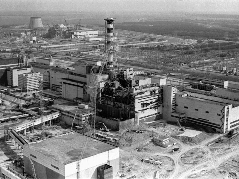Chernobyl: op archiefbeeld van na de ramp is de verwoesting duidelijk zichtbaar