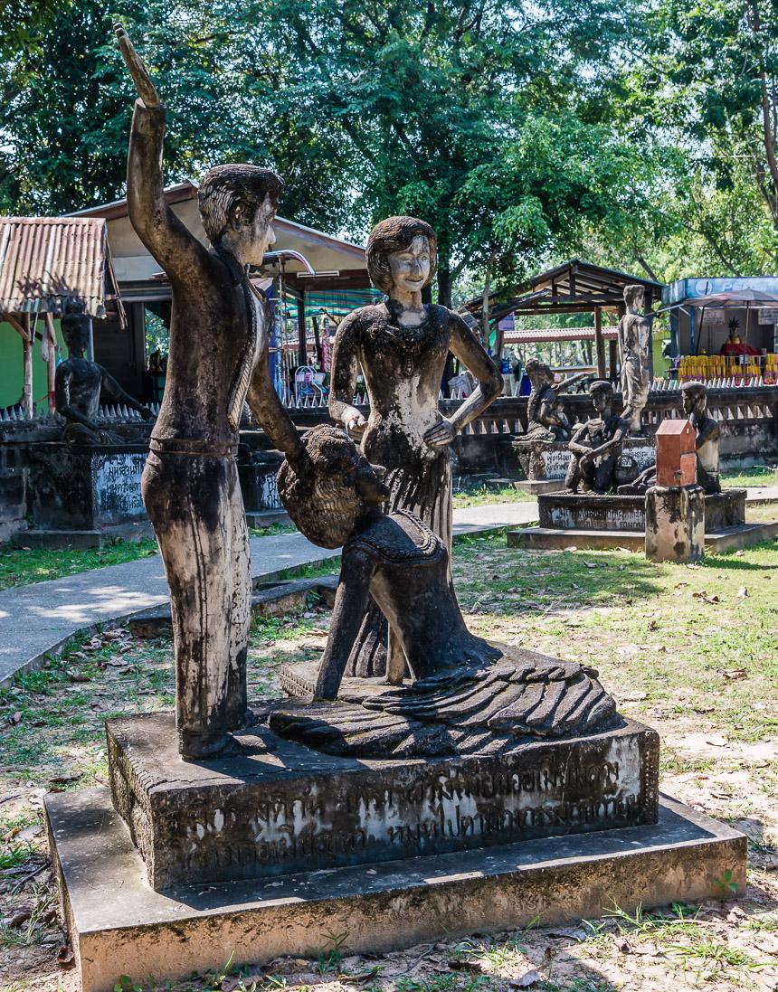Overspel in de beeldentuin van Nong Khai