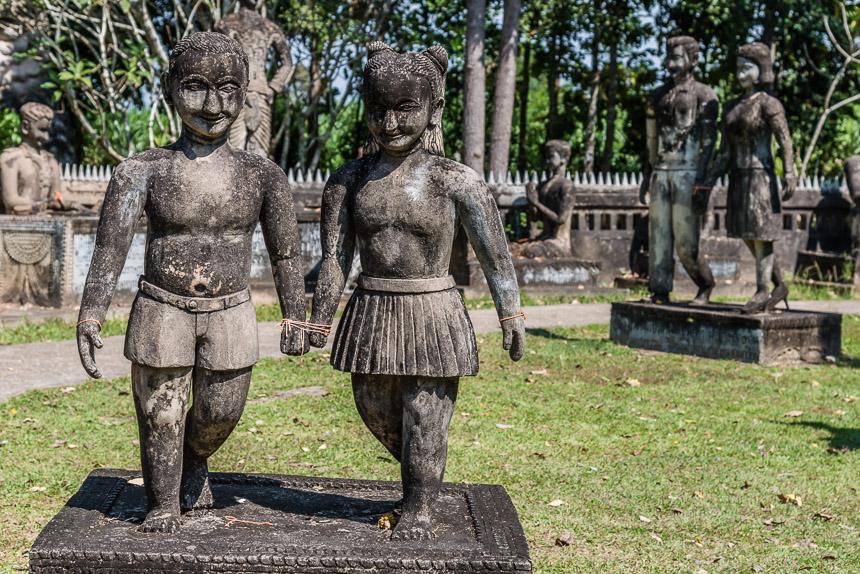 Kindertijd in de beeldentuin van Nong Khai