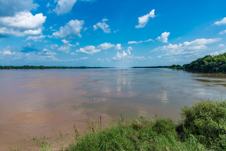 Waar de Songkhram in de Mekong stroomt