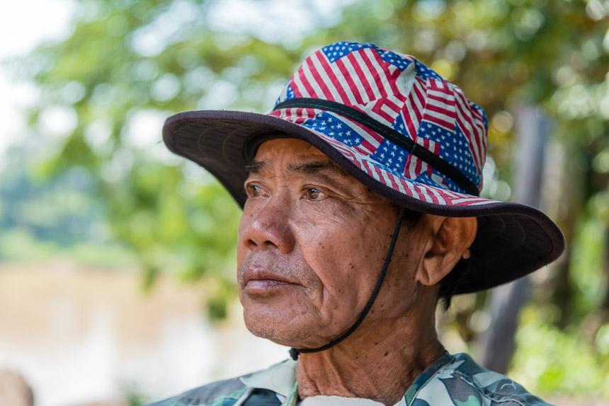 Bootsman op de Mekong