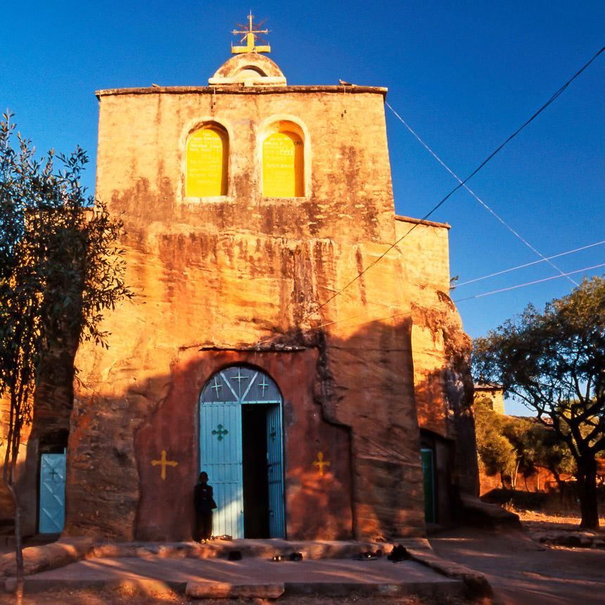 De kerk van Wukro in Tigray, in het noorden van Ethiopië