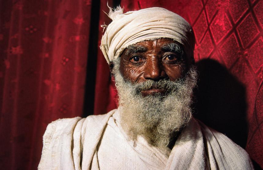 Wukr priester in Tigray, in het noorden van Ethiopië