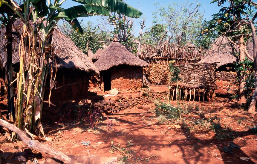 Een Karat, een Konso dorp in Zuid-Ethiopië