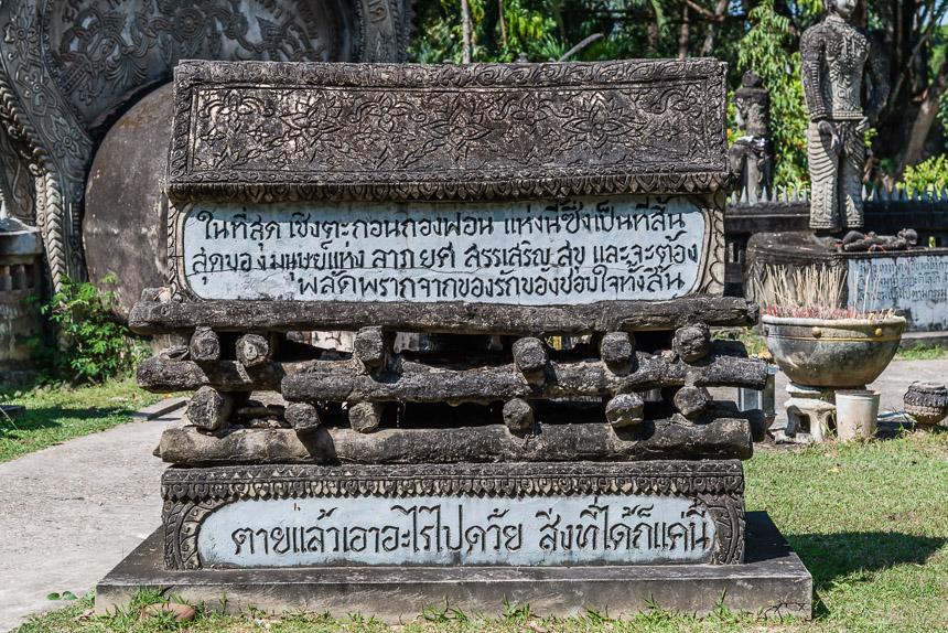 Begrafenis in de beeldentuin van Nong Khai