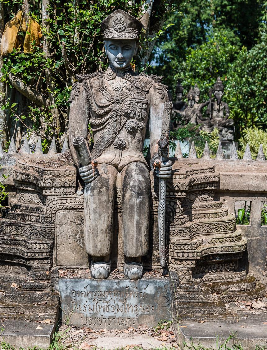 De koning in de beeldentuin van Nong Khai