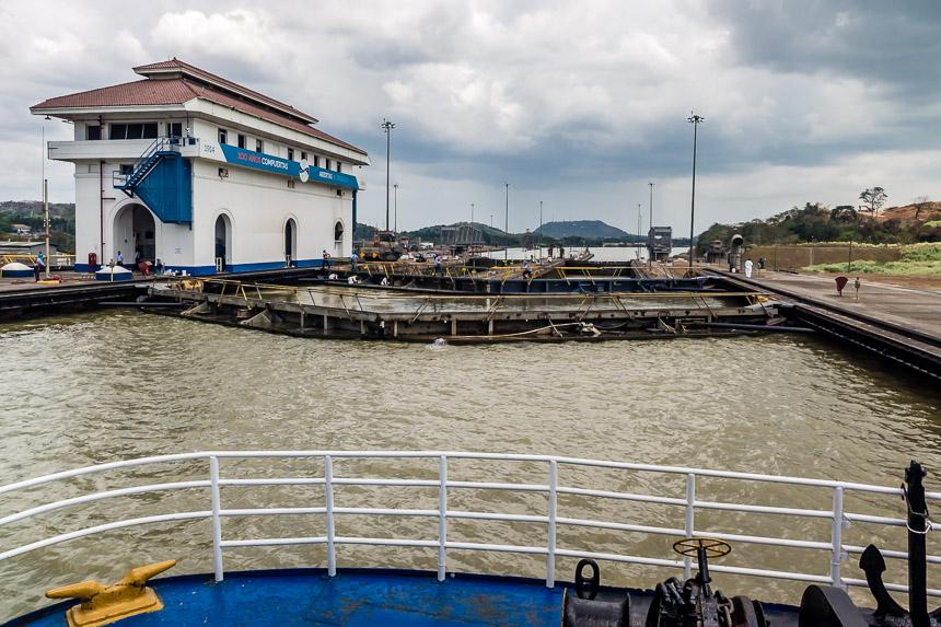Sluizen in het Panamakanaal