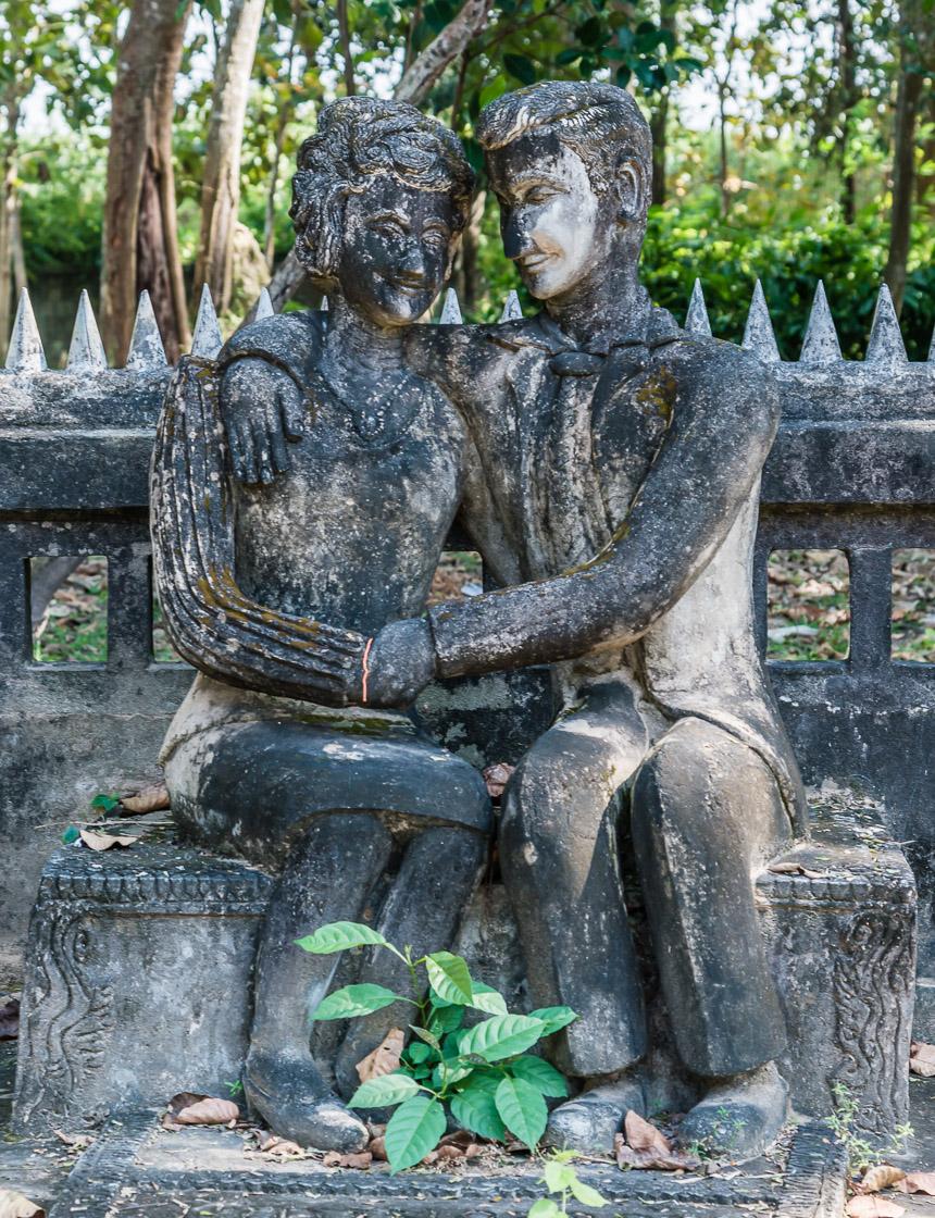Liefde in de beeldentuin van Nong Khai