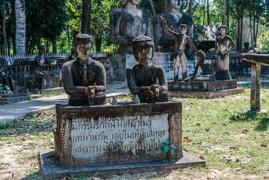 Het huwelijk in de beeldentuin van Nong Khai