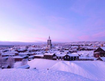 Bevroren sprookjesstad Røros