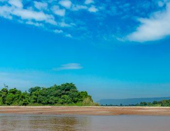 Een dorp aan de Mekong
