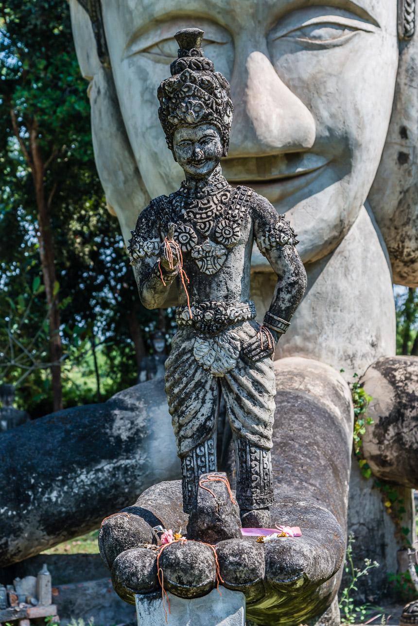 Beeld van het zien in de beeldentuin van Nong Khai