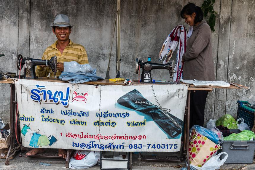 Kledingkraampje in Ubon Ratchatani