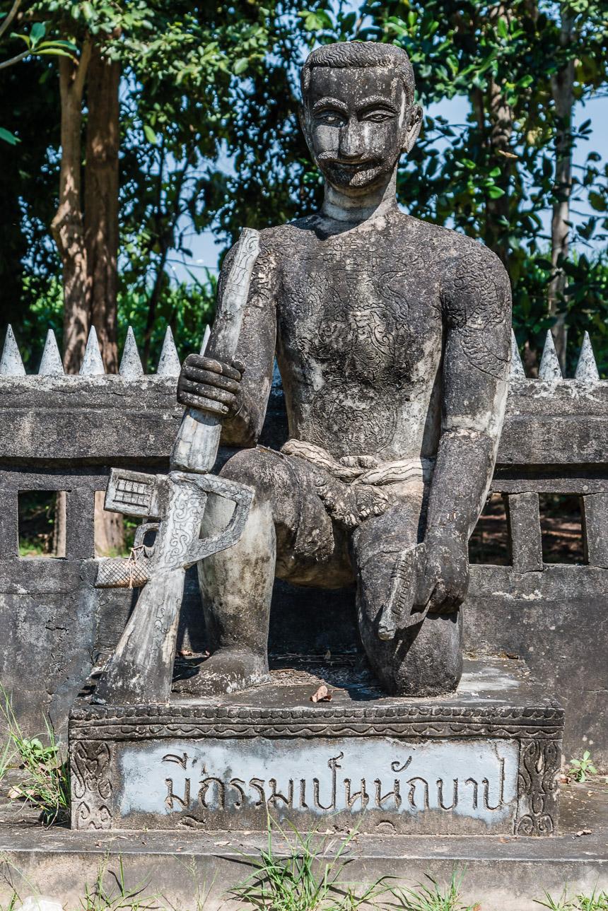 De maffiaman in de beeldentuin van Nong Khai