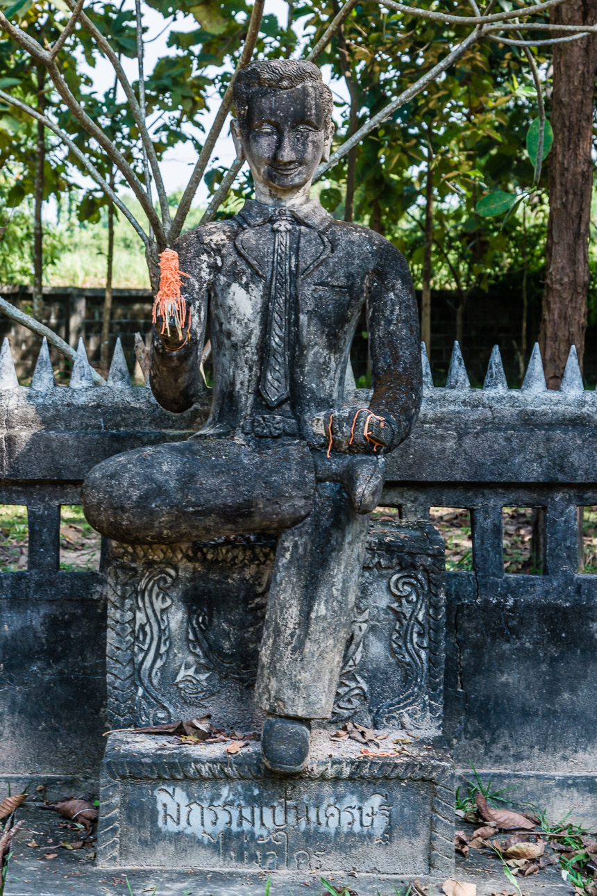 De yuppie in de beeldentuin van Nong Khai