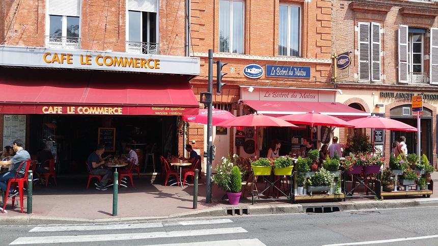 Café, bistro en bakker in Toulouse