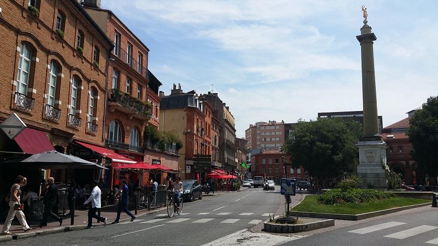Toulouse per fiets