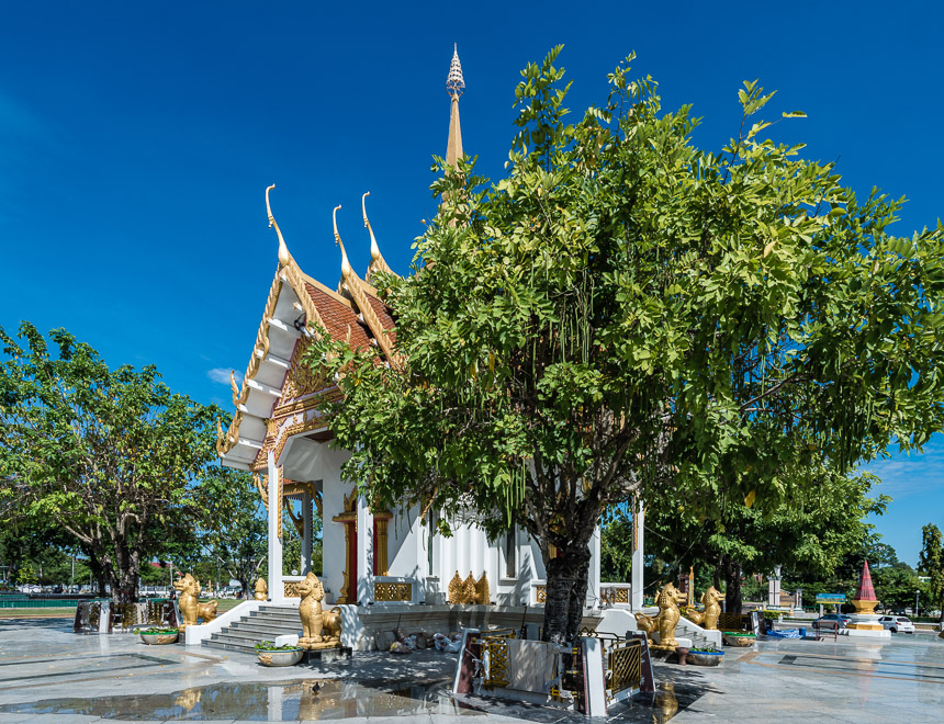 City pillar shrine in het centrum van Ubon Ratchatani in Thailand