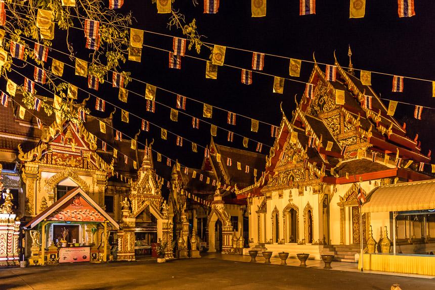 Wat Okat, een sierlijke tempel in Nakhon Phanom