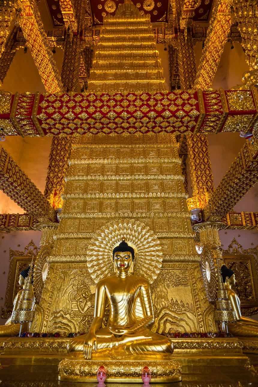 De binnenste stupa van Wat Phra That Nong Buang in Ubon Ratchatani