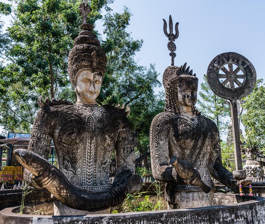 Beweging en vloeibaarheid in de beeldentuin van Nong Khai