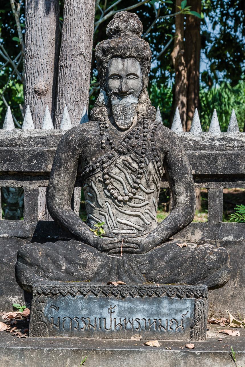 Yogi in de beeldentuin van Nong Khai