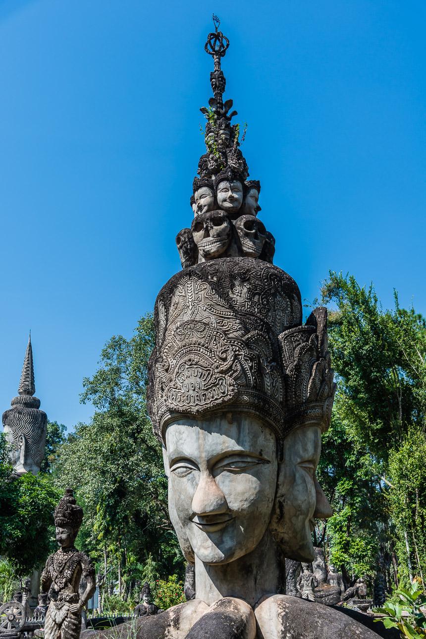 Het gezicht in de beeldentuin van Nong Khai