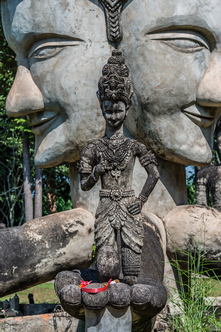 Beeld van het hart in de beeldentuin van Nong Khai