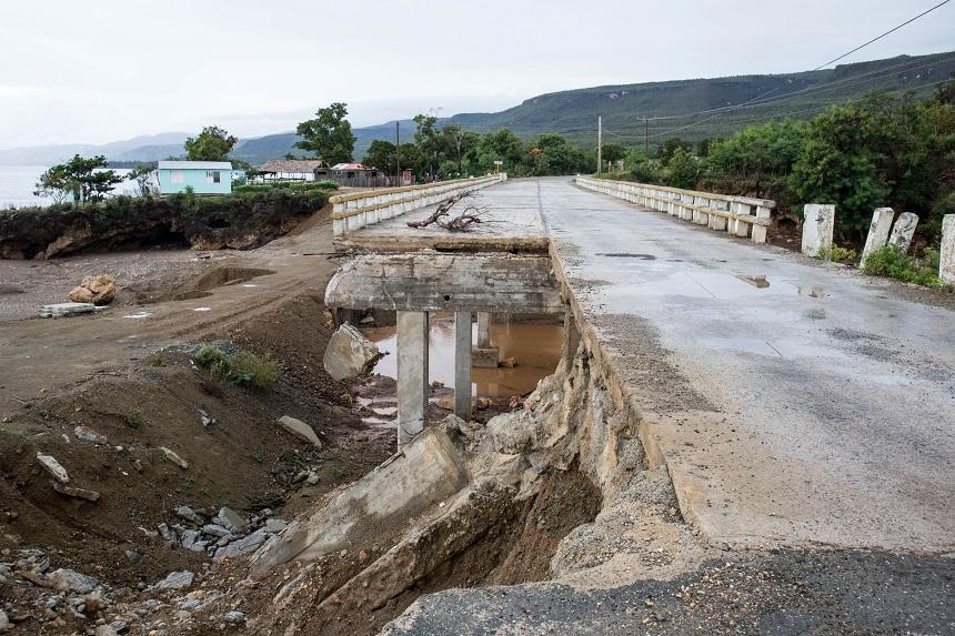 Kapotte brug in Cuba