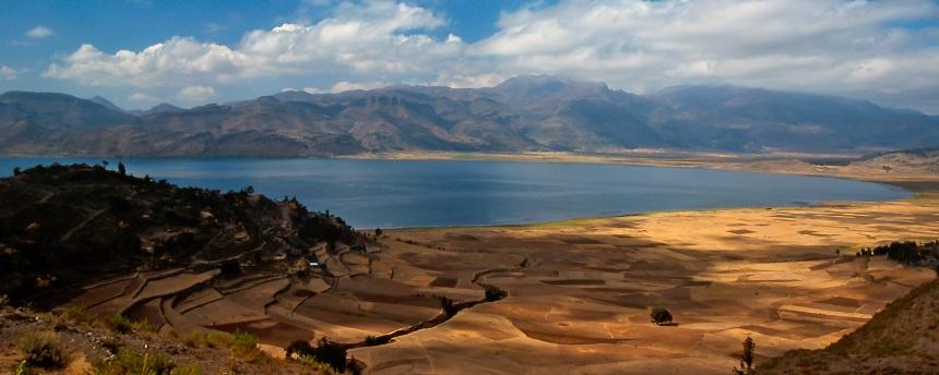 Landschap Ethiopië, tussen Maychew en Mekele