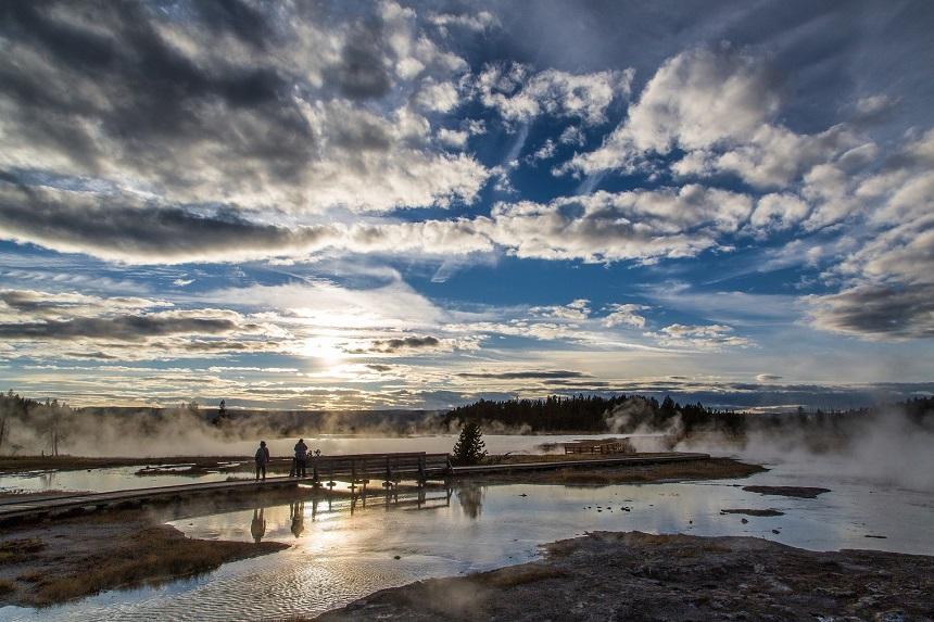 vogelspotten in Yellowstone