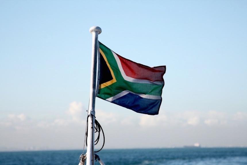 De vlag van Zuid-Afrika