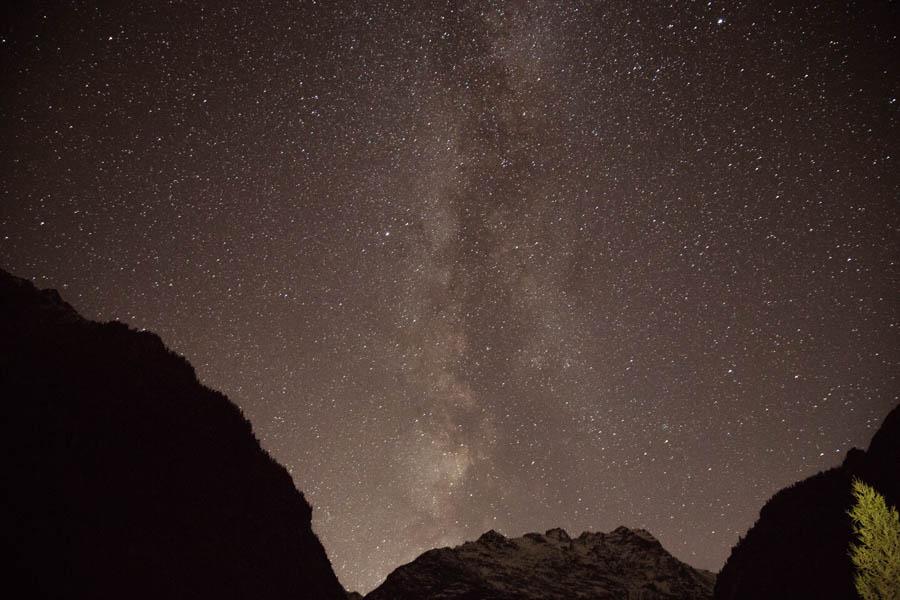 Les Écrins, een perfecte plek om sterren te fotograferen