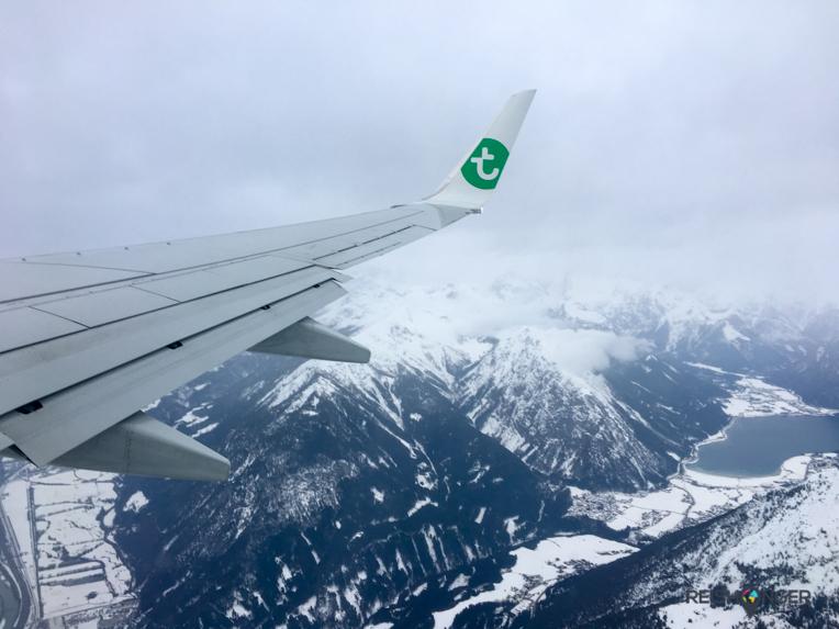 De laatste 10 minuten van de vlucht naar Innsbruck zijn adembenemend