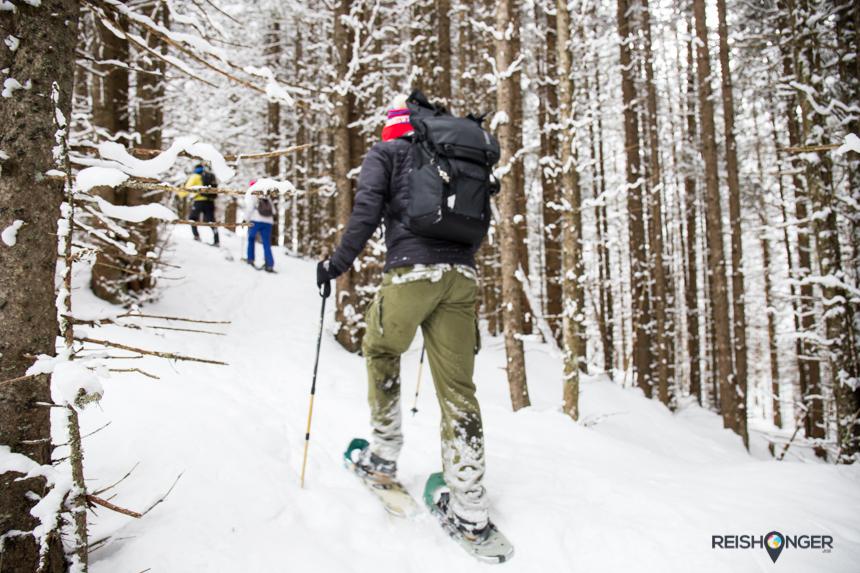 Een valpartij is als beginneling bij het sneeuwschoenwandelen bijna niet te voorkomen