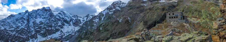 Aangekomen bij de Pelvoux berghut