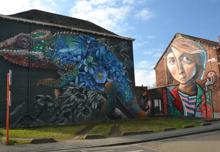 Streetart in Runkst, Hasselt